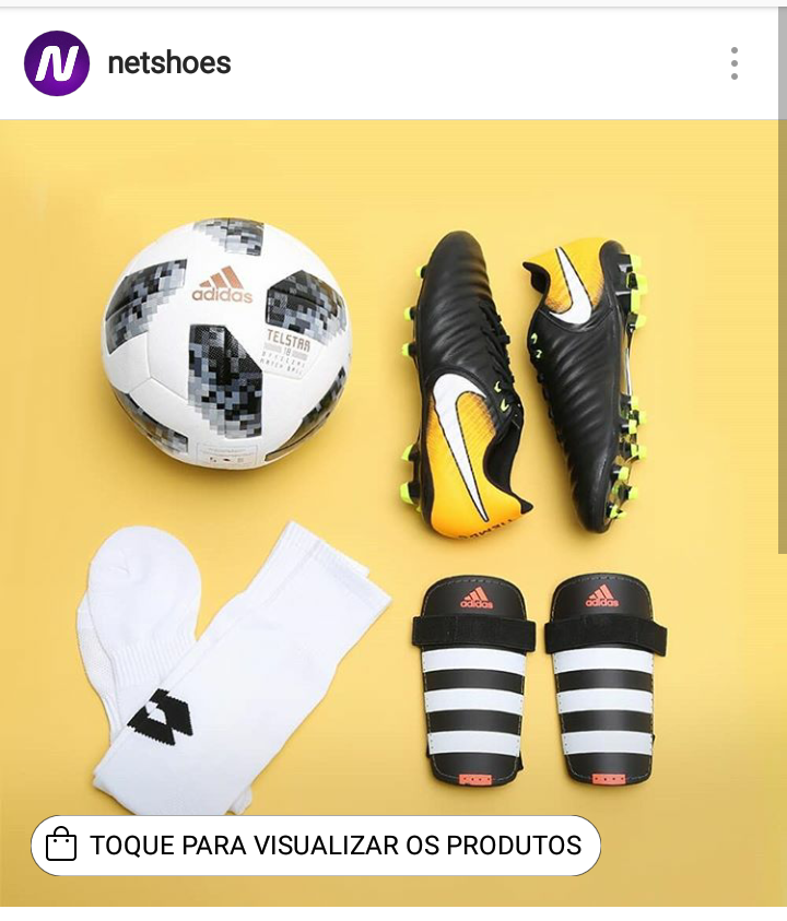 Netshoes vende no Instagram